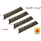 Hyco hyJ518A (4-pack) Stainless Steel Heat Plate Replacement for Select Gas Grill Models by Brinkmann, Charmglow and Others