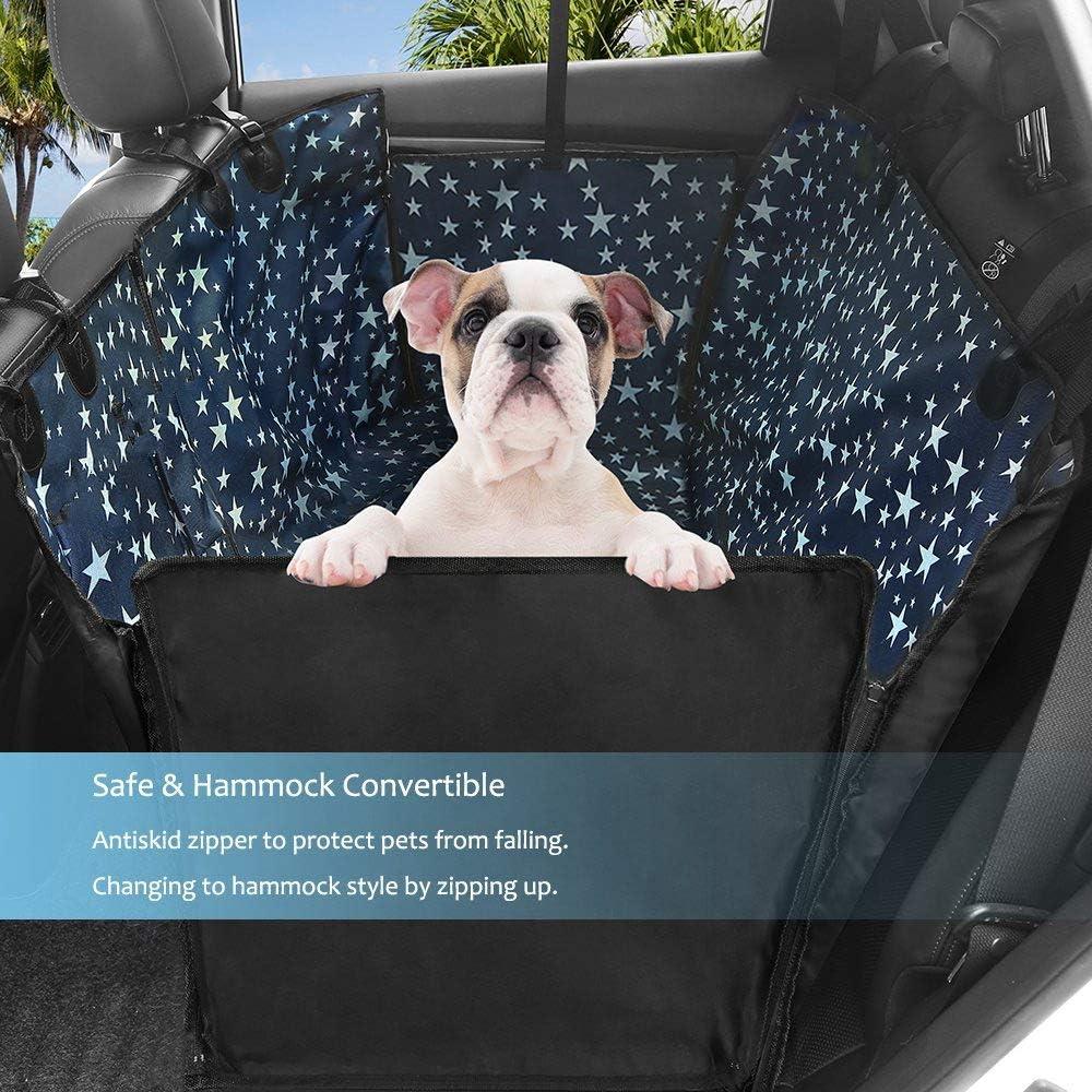 PETEMOO Cubierta de Asientos de Coche para Perros Impermeable Funda para Perro de Coche Protectores de Asiento Coche para Perros Mascotas Viajes