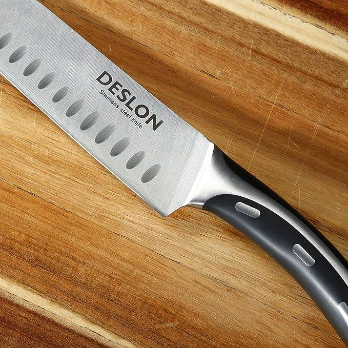 Amazon.com: DESLON - Juego de cuchillos de acero al carbono ...