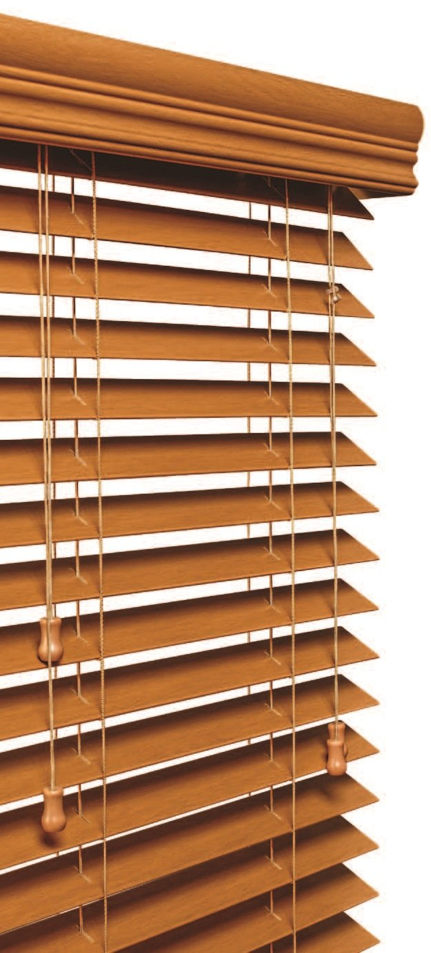 Lotus & Windoware 2'' Faux Wood Blind, 30 1/2 x 72, Golden Oak