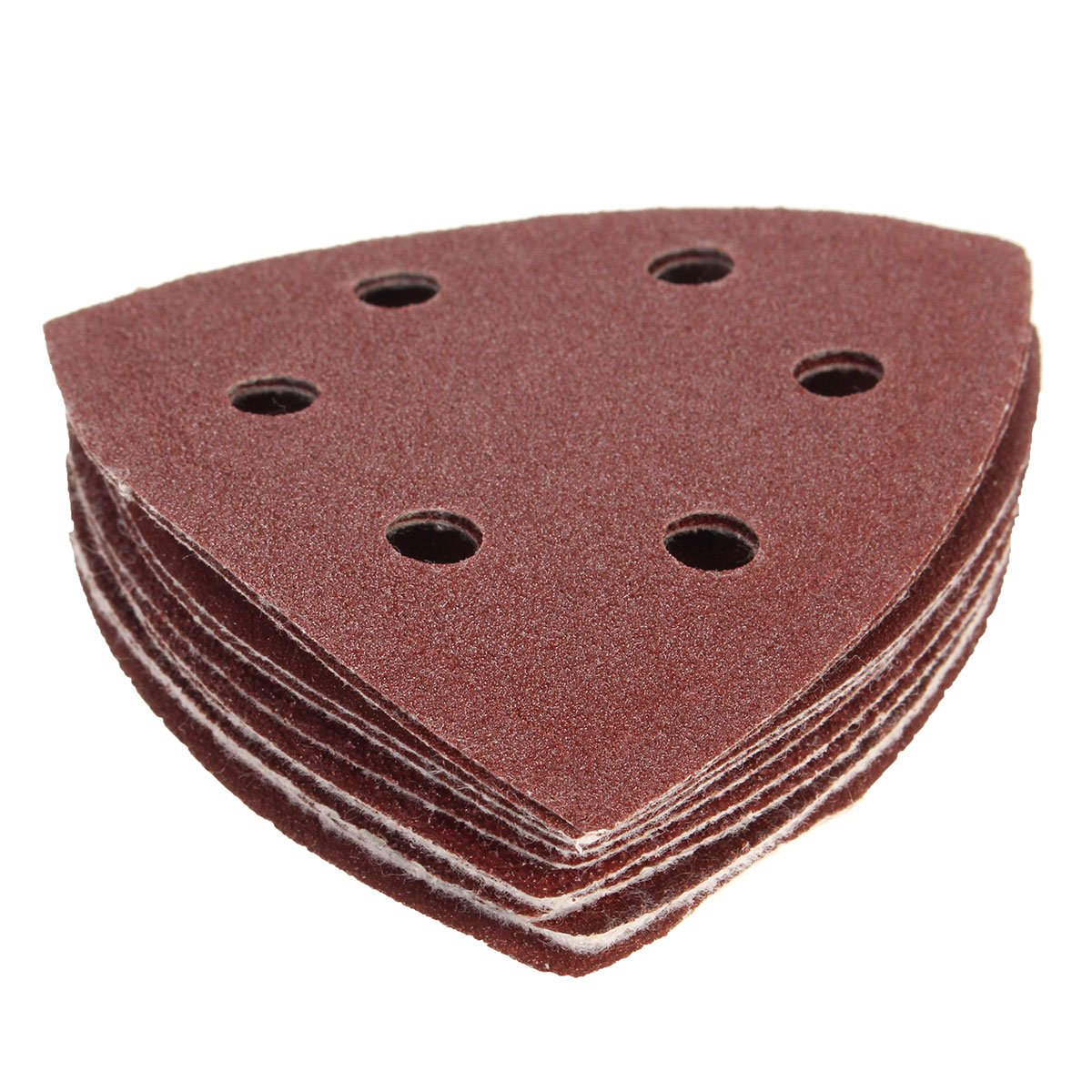 KING DO WAY Pack Of 10 90mm Sanding Sheets Paper Triangle Mouse Detail Sandpaper Pads 40 60 80 100 120 Grit