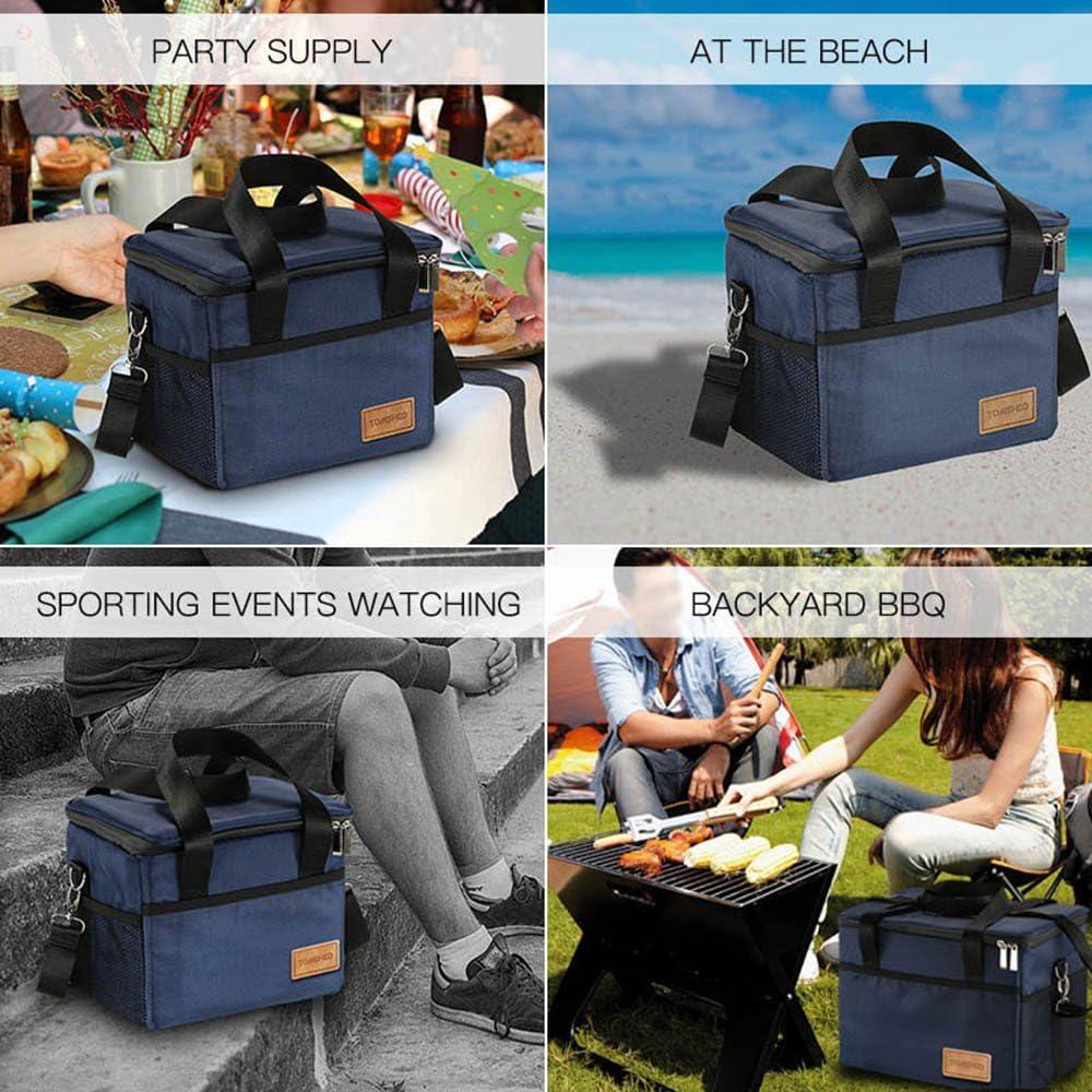 Viaje en Coche y Trabajo Playa Bolsa Nevera Port/átil 10L // 18L // 28L // 37L // 47L//70L Mantener Caliente Bolsa de Almuerzo para Picnic Familiar Camping TOMSHOO Bolsa T/érmica