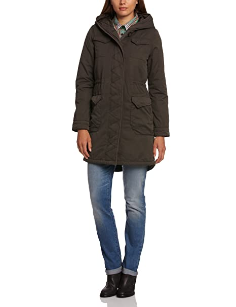 Levis Hooded Padded Parka - Abrigo de manga larga para mujer, color 0 001,