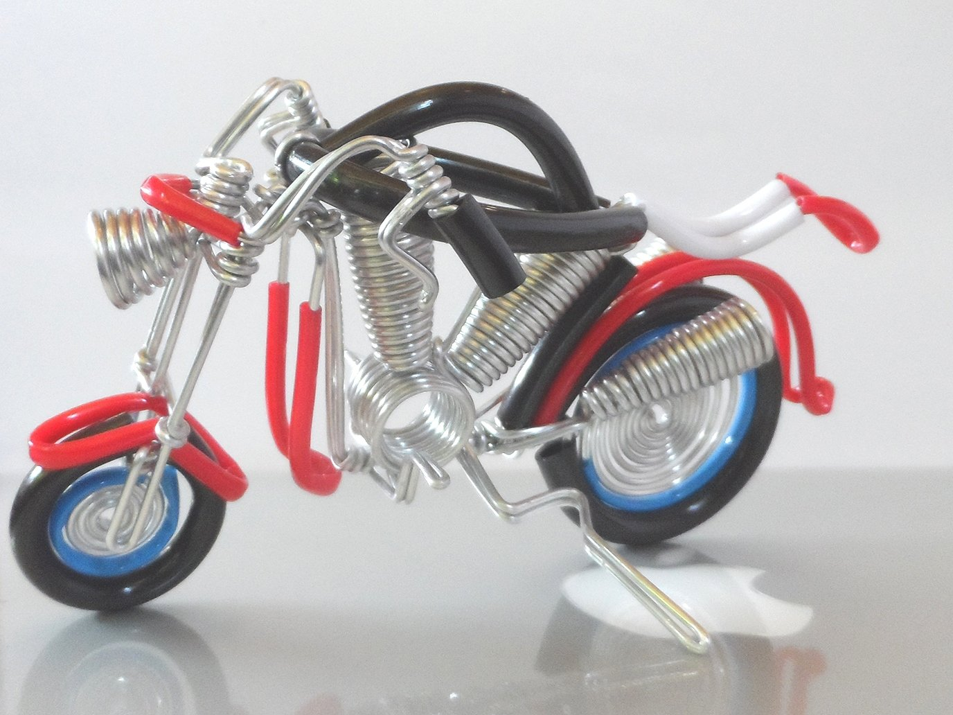Wire Vintage Handmade Craft Metal Motorbike Motorcycle Model Home Decor Ornament Toy