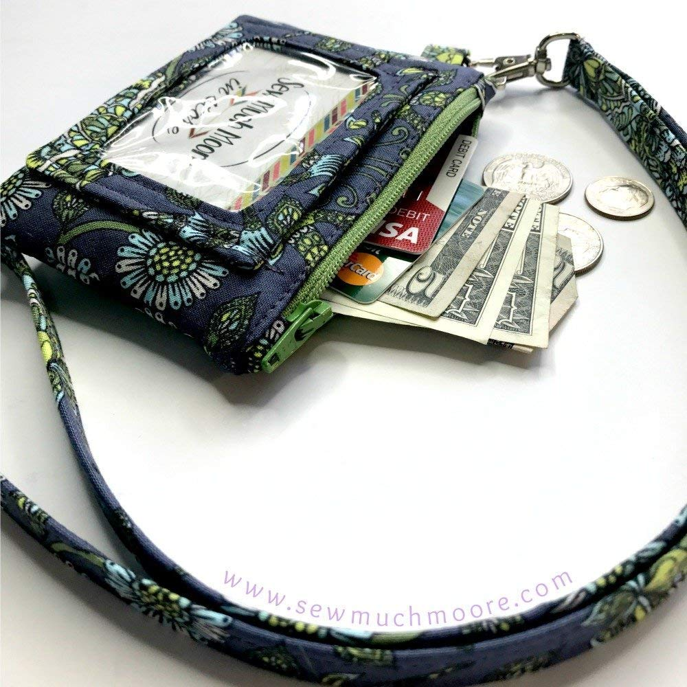Deer Buck Tula Pink ID Wallet Lanyard Badge Holder Cash and Coin Purse