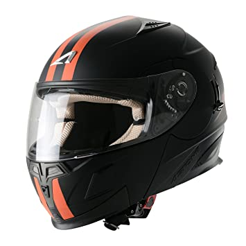 Astone Helmets Casco Motocross, Naranja, XL