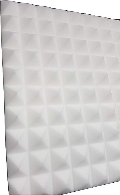pannelli acustici con piramidi isolamento 49 x 49 x 4 cm antracite//nero Pannello in schiuma fonoassorbente