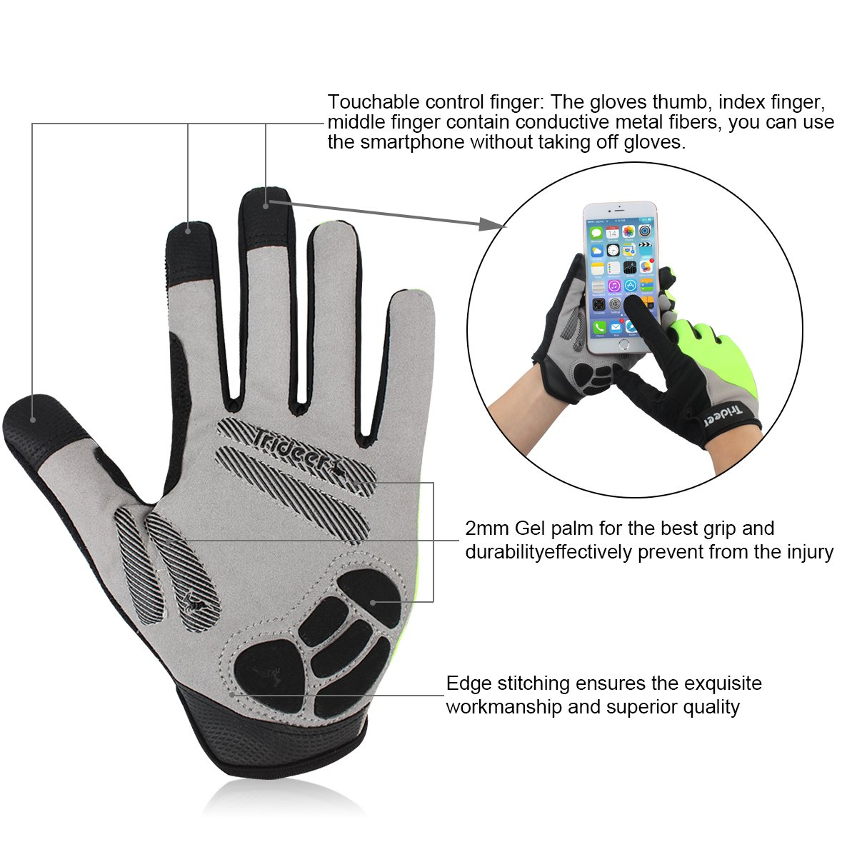 Motorcycle gloves to prevent numbness - Full Finger Amp Half Finger Cycling Gloves Trideer
