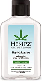 product image for Hempz Triple Moisture Herbal Moisturizing Hand Sanitizer, 2.25 oz. - Scented Antibacterial Gel for Hands - Kills 99% of Germs, Grapefruit Fragranced Antiseptic with Skin Hydration