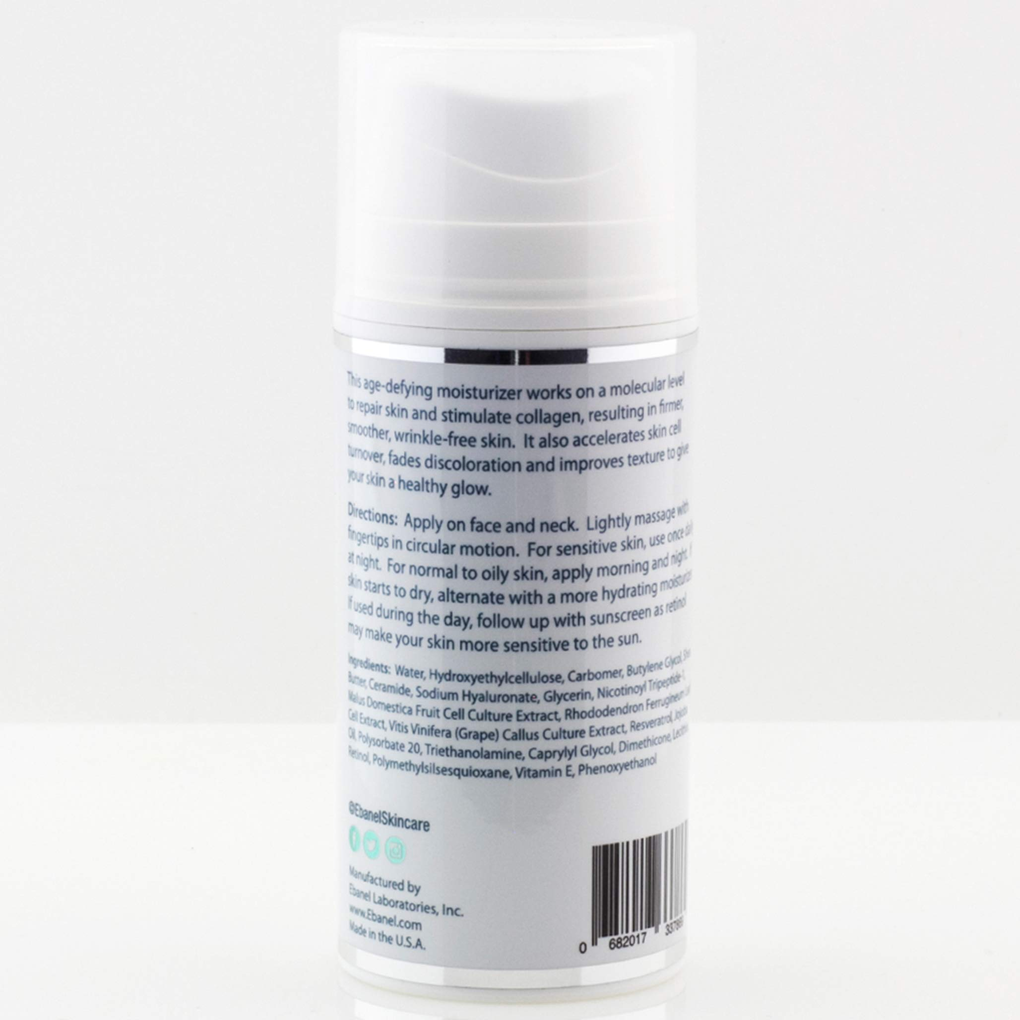 (3.5 Oz) Ebanel Advanced 2.5% Retinol Stem Cell Moisturizer with Age Defying Liposomal Technology - Hyaluronic Acid, Resveratrol, Peptide Complex