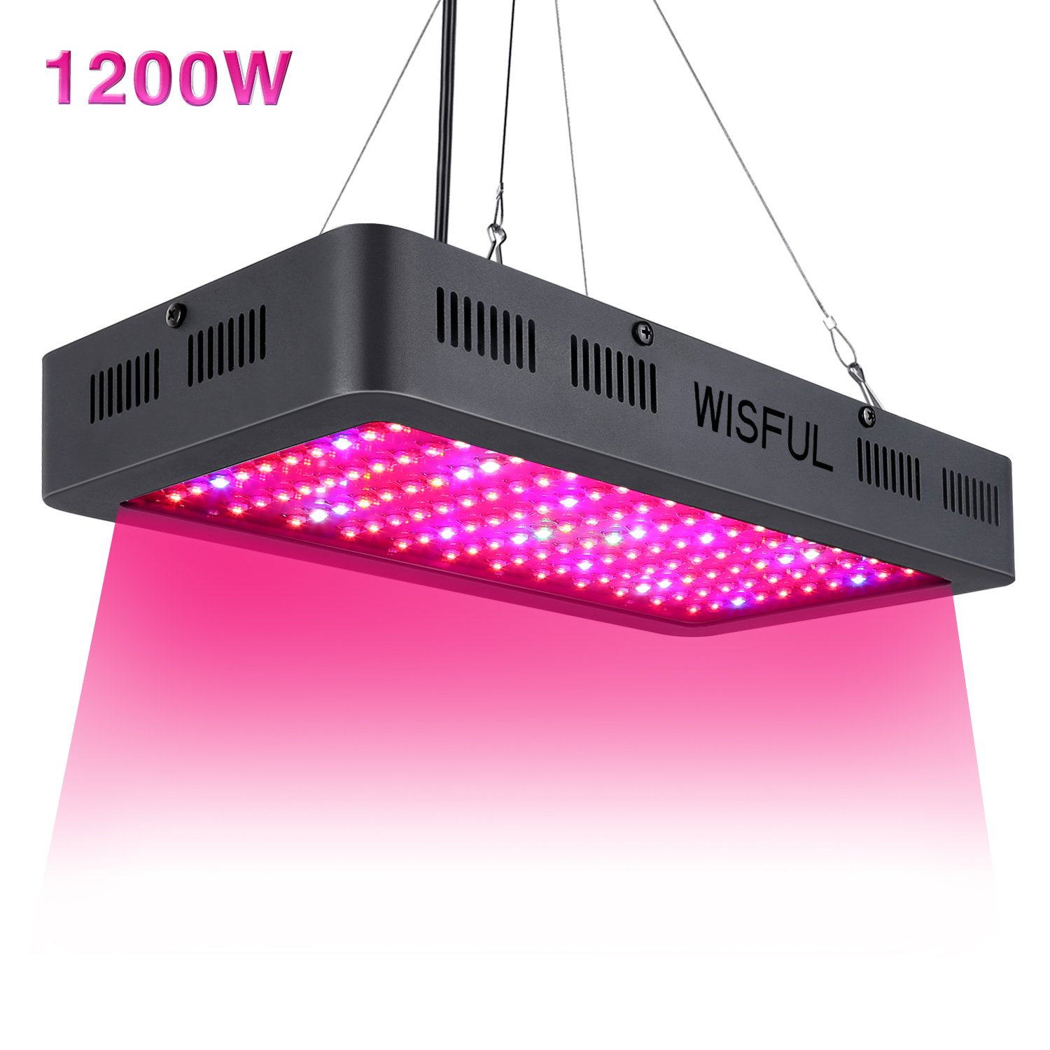 Led Grow Light Full Spectrum 1200W, Double Chips Growing Lamps with UV & IR Indoor Plants Grow Lights with Protective Sunglasses for Greenhouse Hydroponic Veg and Flower