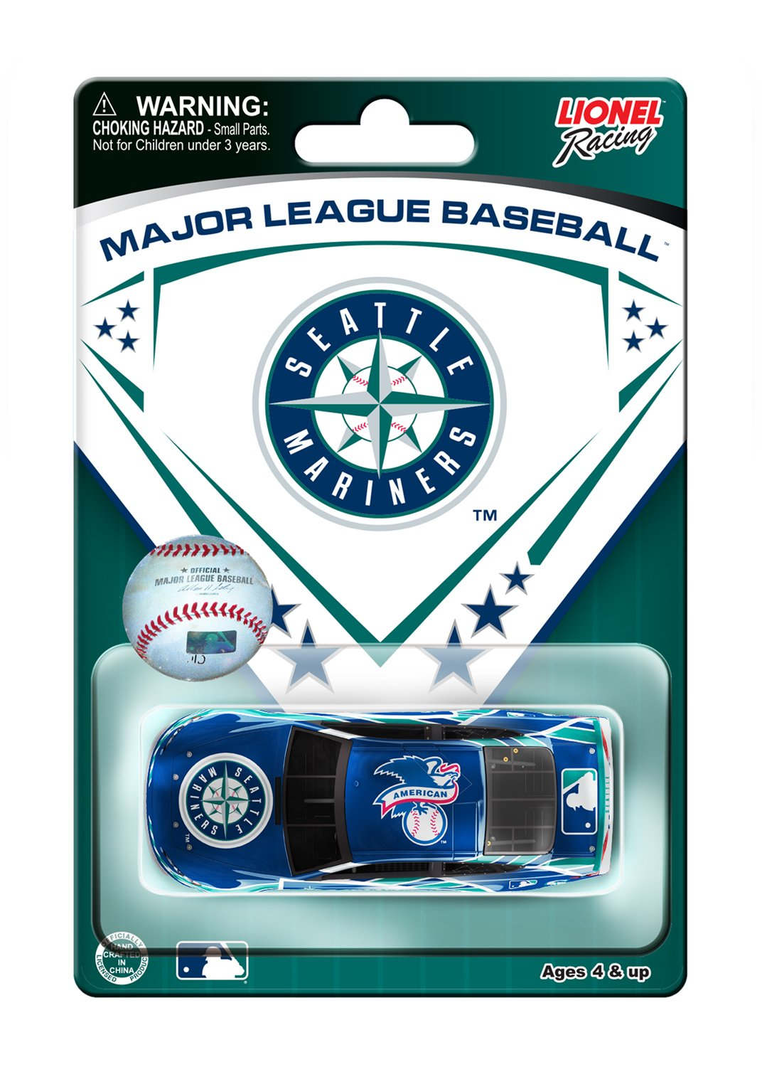 1:64 Scale Seattle Mariners Major League Baseball Hardtop Diecast Car