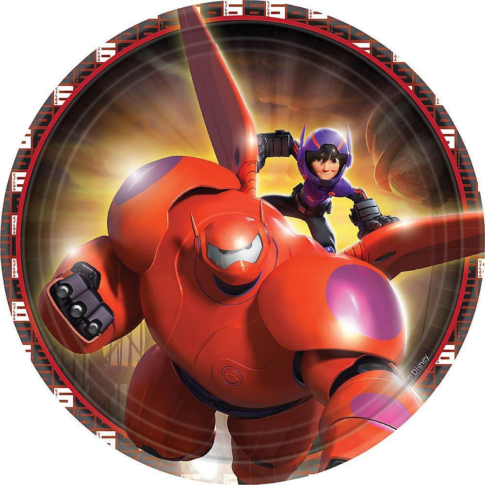Disney Big Hero 6 - Dessert Plates (8) by Amscan (Image #1)