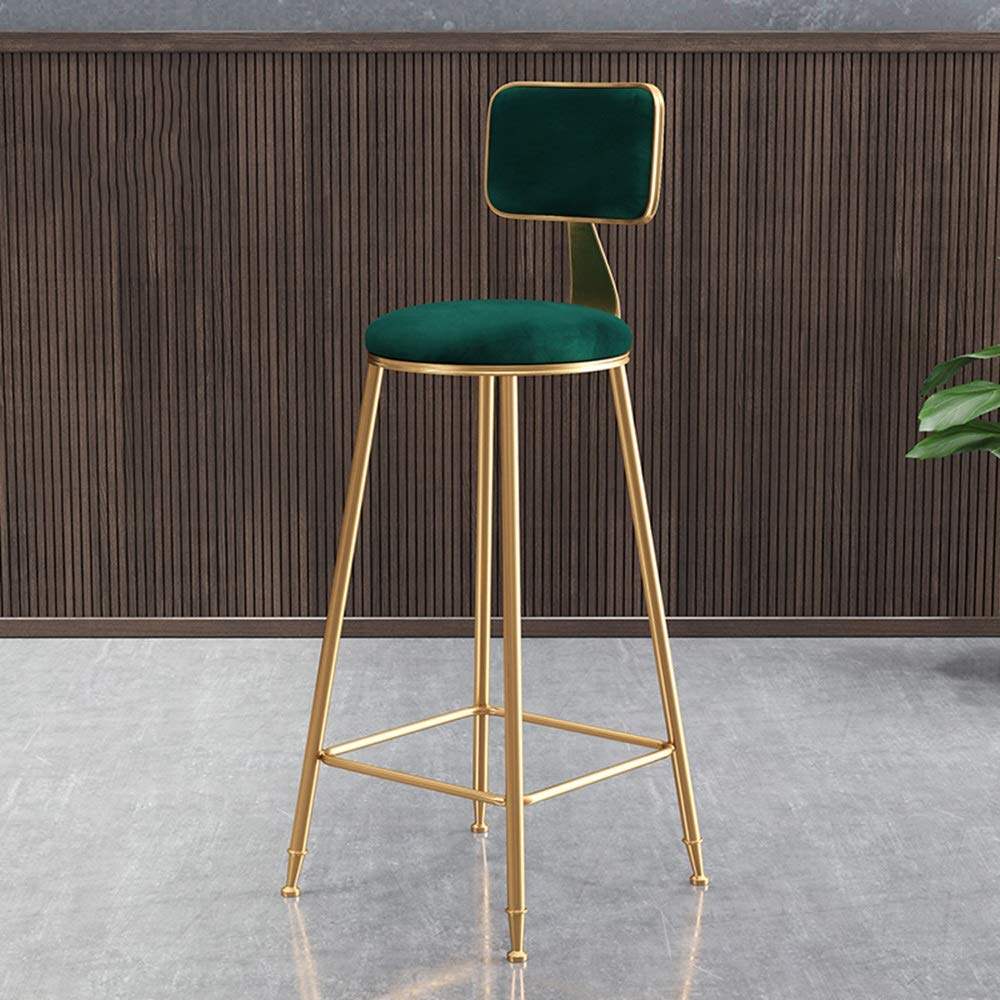 6 434545cm Bar Chair, Dining Chair Kitchen Wrought Iron Stool bar Stool high Stool Multi-color Optional HPLL (color   4, Size   43  45  45cm)