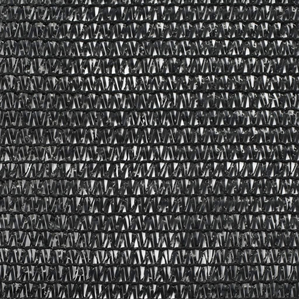 vidaXL Zaunblende Schwarz 1,8x25 m HDPE Tennis Sichtschutz Windschutz Zaun