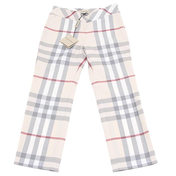 Burberry 5774M Pantaloni Bimba Check Kids Children Pants Trousers [7 Years]
