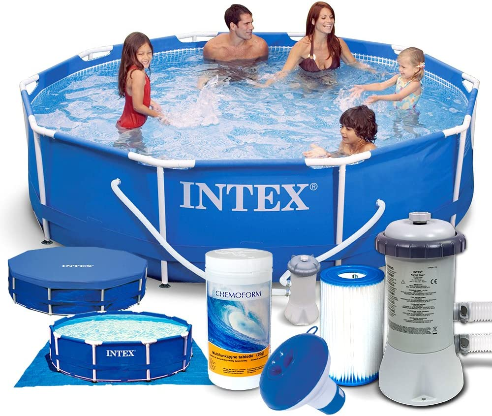 Set 7 in1 Frame Piscina Intex 28202 Diámetro 305 x 76 cm: Amazon ...