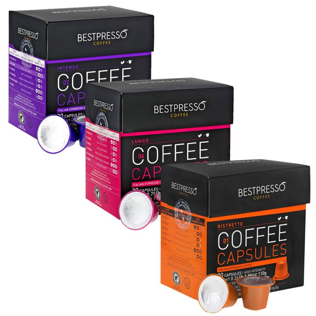 120 bestpresso nespresso compatible gourmet coffee for Porte 60 capsules nespresso