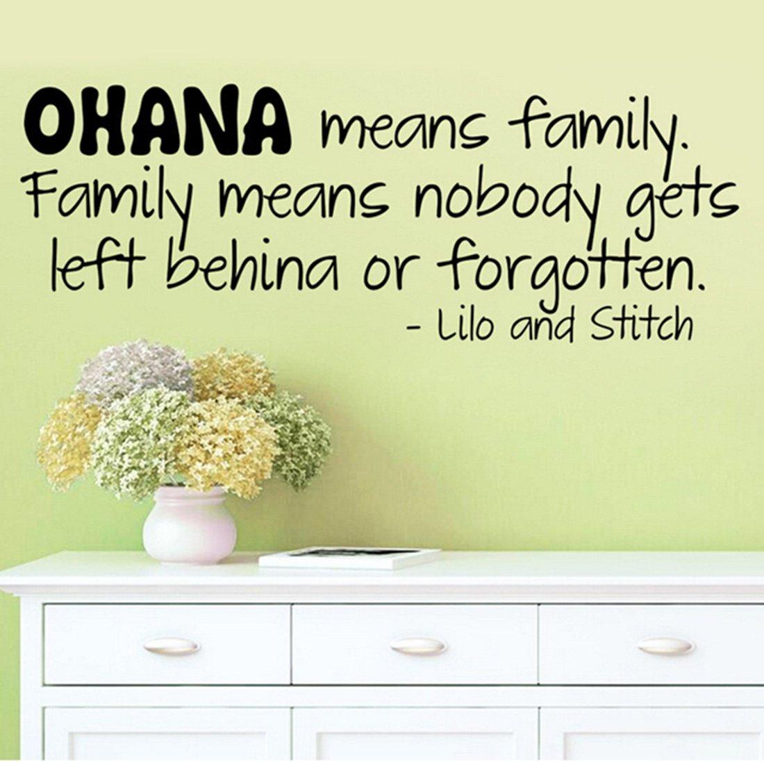 Amazon.com: Joylive Ohana Means Family Lilo And Stitch Vinyl Wall ...