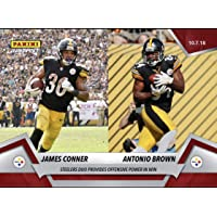 c16687750a7 2018 JAMES CONNOR   ANTONIO BROWN PITTSBURGH STEELERS DUO PANINI INSTANT  CARD  53 + TOPLOADER