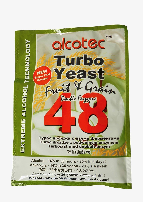 alcotec Turbo Levadura 48h ❁ especial fruta & Grano ❁ 14% en 36 ...