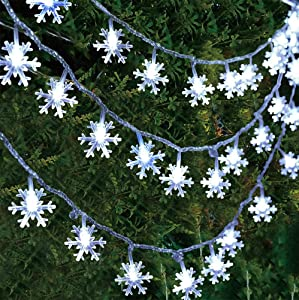 Amomey Christmas Lights, USB Snowflake Lights String, Christmas Party Decorative Fairy Lights for Room, Decor Indoor Outdoor Celebration Lighting 19ft /40LED (White)