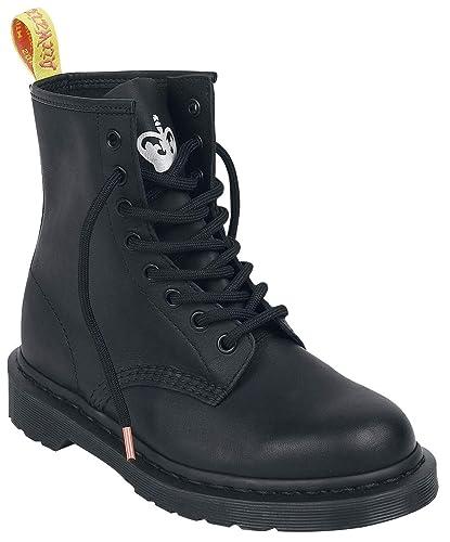 ba209d8981b Dr. Martens Unisex 1460 Sex Pistols Collab Black Backhand Straw Grain  Leather 3 M UK