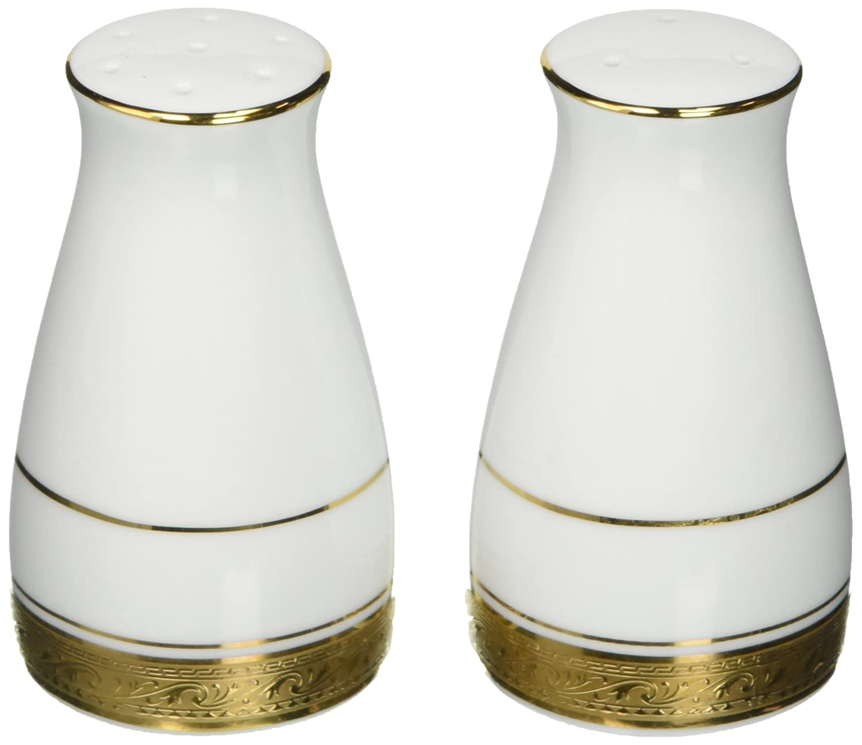 Noritake Crestwood Gold Salt /& Pepper Shakers