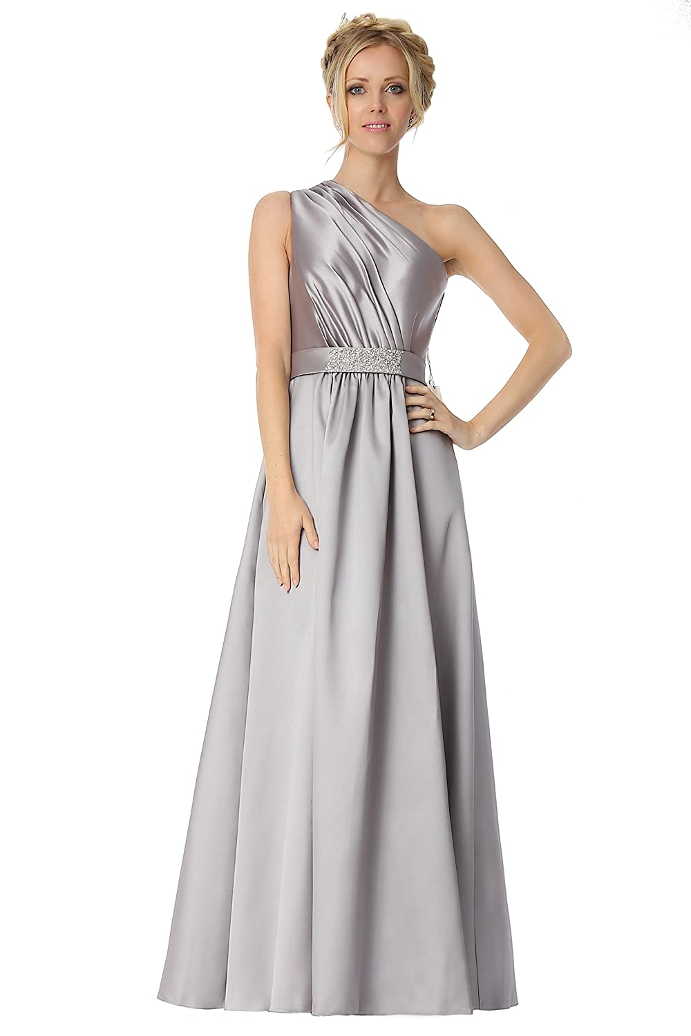 SEXYHER One Shoulder With Beading Details Bridesmaids Formal Evening Dress -EDJ1773