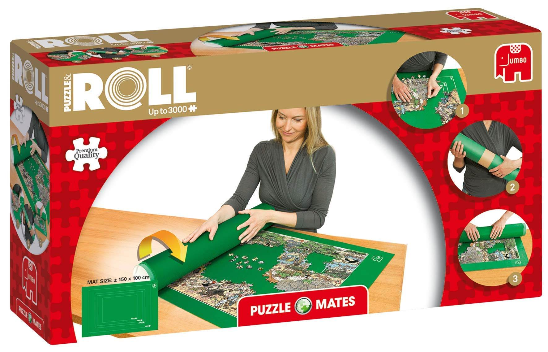 Puzzle Mates 17691 Puzzle and Roll Jigroll for up to 3000 Pieces, Multi