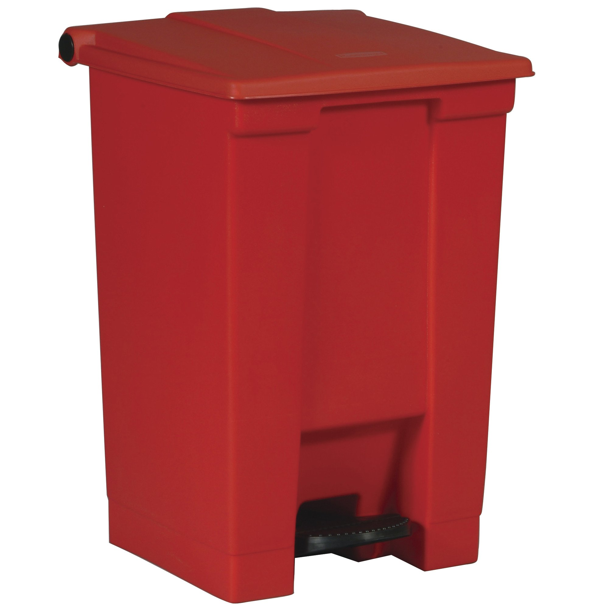 Rubbermaid Commercial Slim Jim Front Step On Trash Can, Red, 12 Gallon