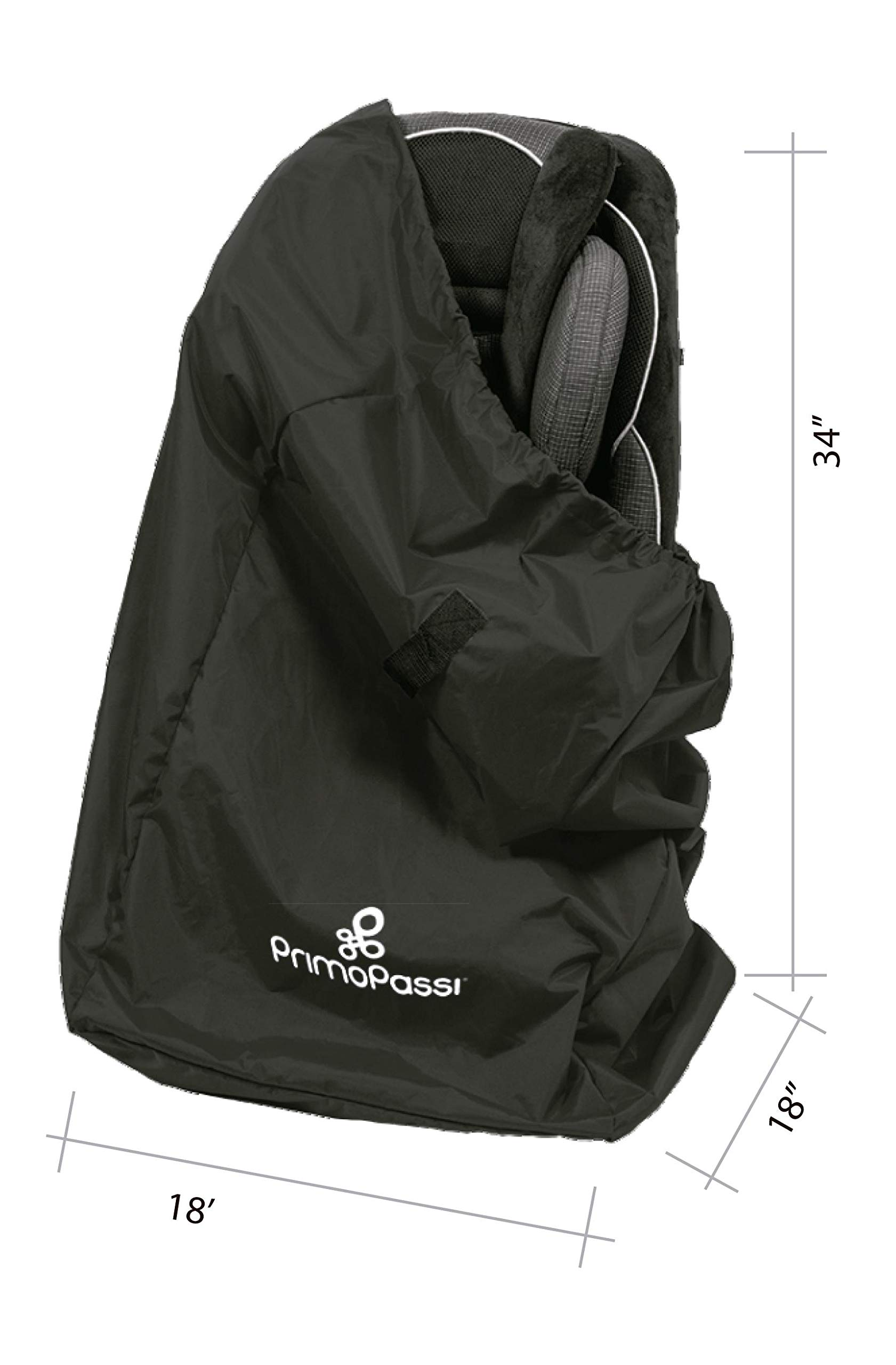 Primo Passi - Car Seat Travel Bag | Airport Gate Check Car Seat and Booster Bag (Black) by Primo Passi