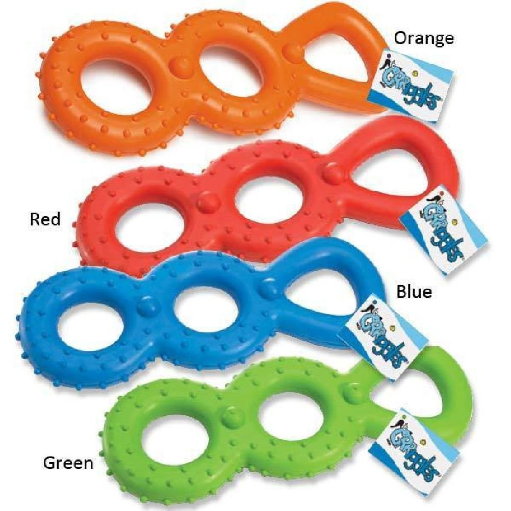 Tough Rubber Tug Toy For Dogs Chompy Rompers ble Dog Chew Toys