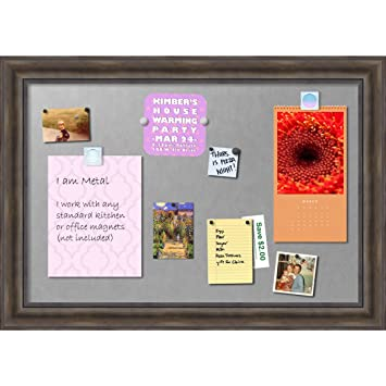 framed magnetic board extra large rustic pine outer size 42 x 30