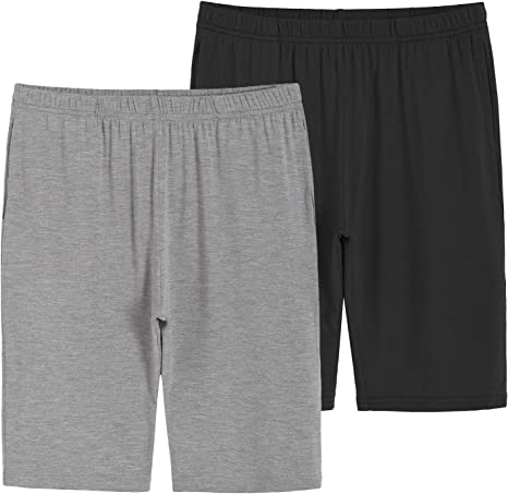 Latuza Boys 2 Pack Bamboo Viscose Knit Shorts with Pockets