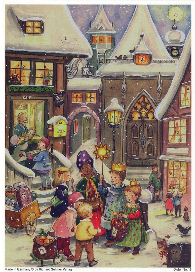 Richard Sellmer Three Little Kings - German Advent Calendar - Child's Advent Calendar