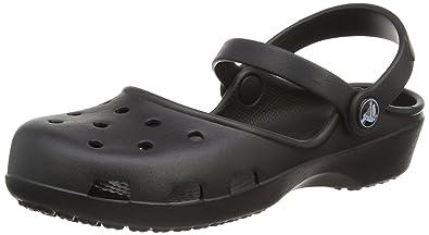 Crocs Karin Clog, Women Clog, Black (Black), 2 UK