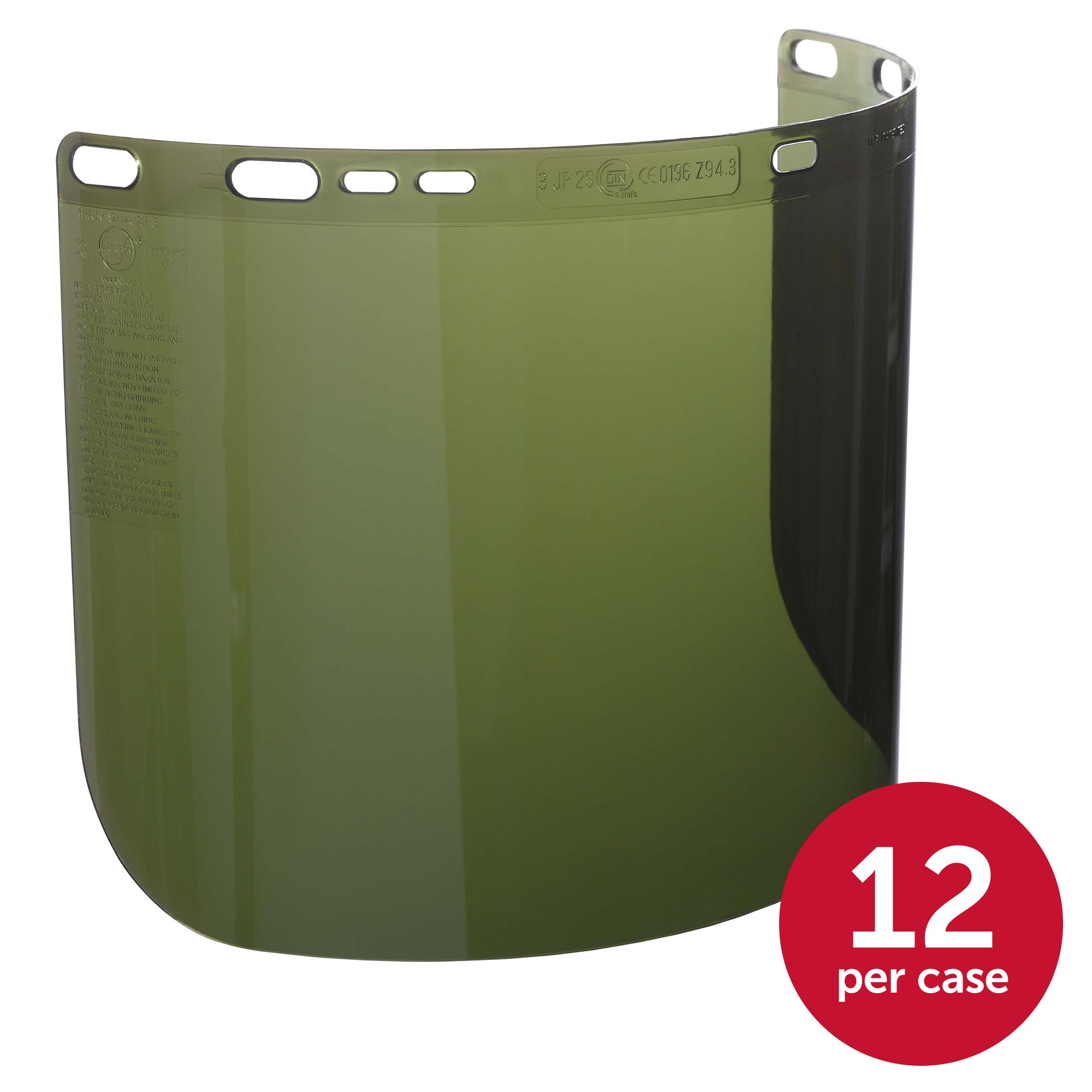 "Jackson Safety F50 Specialty High Impact Face Shield (26262), Polycarbonate, 8"" x 15.5"" x 0.06"", IRUV 3.0, Face Protection, Unbound, 12 Shields / Case by Jackson Safety (Image #2)"