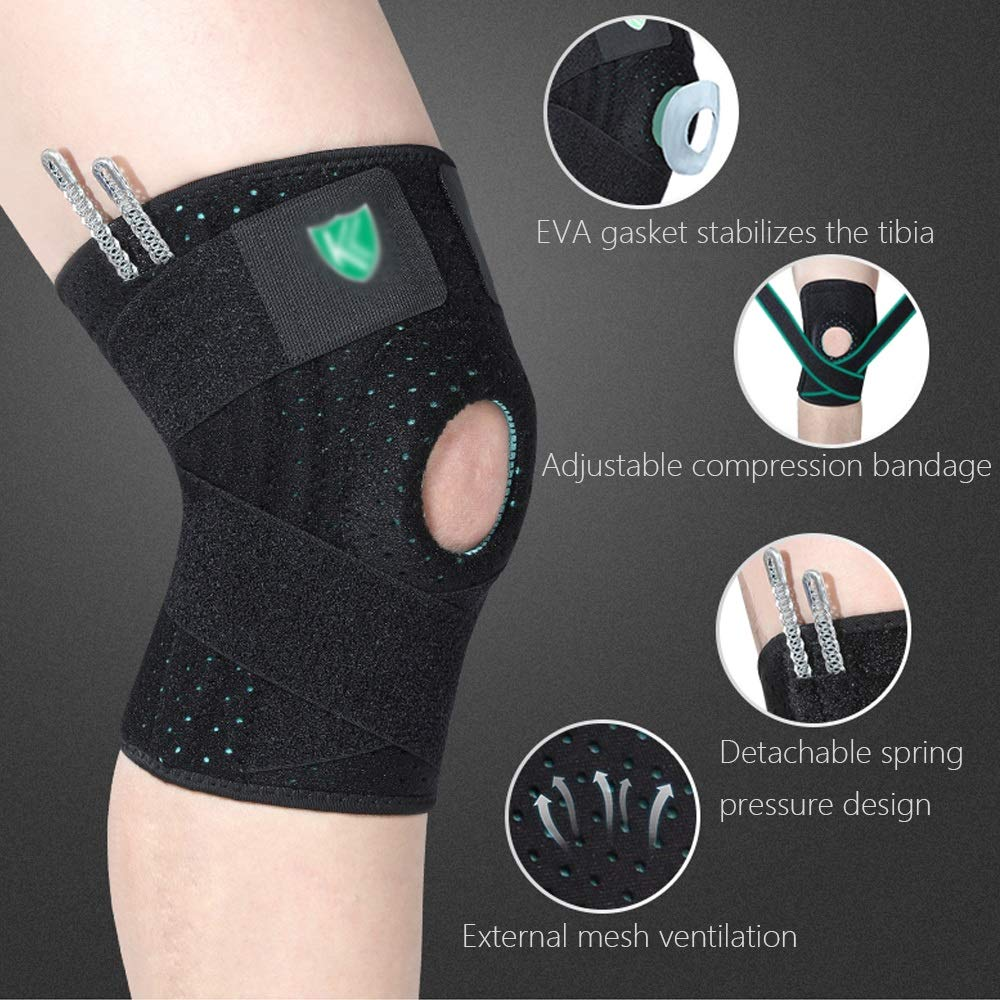 TY BEI Kneepad Sports Knee Pads Men and Women Sports Outdoor Activities Warm Knee Pads - Black and Rose Red Optional @@ (Color : Rose red) by TY BEI (Image #3)