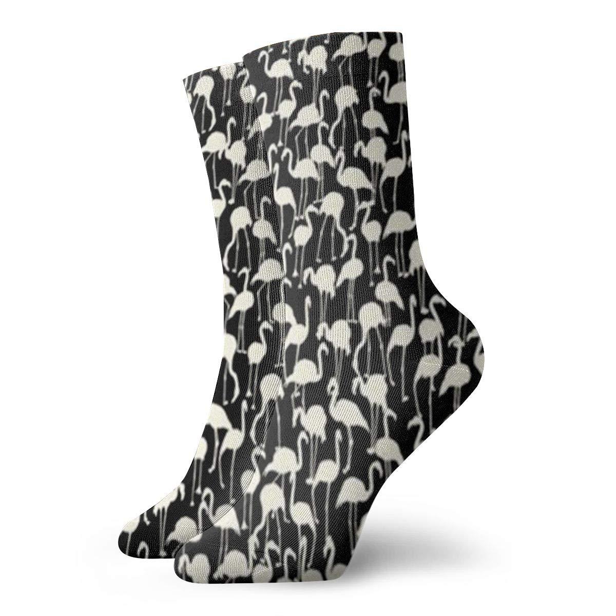 Flamingo Unisex Funny Casual Crew Socks Athletic Socks For Boys Girls Kids Teenagers