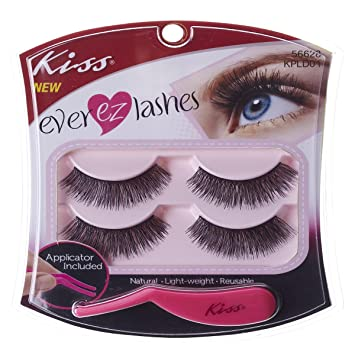 5d6539820ad Amazon.com : Kiss Products No. 05 Ever EZ Lashes, 4 Count : Fake Eyelashes  And Adhesives : Beauty