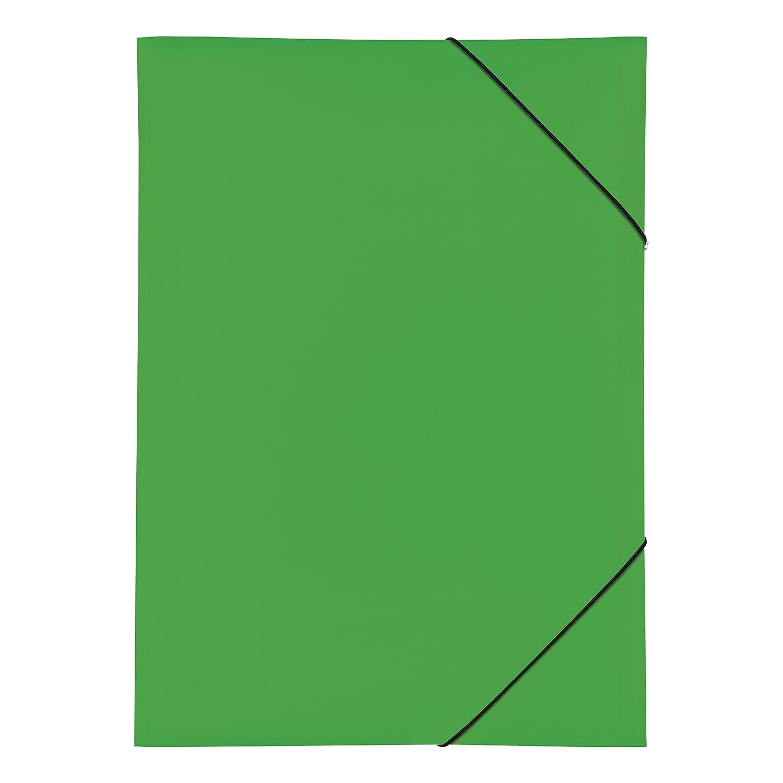 Pagna 21638–05–Cartellina con elastico, PP con 3alette, A3Verde 21638-05