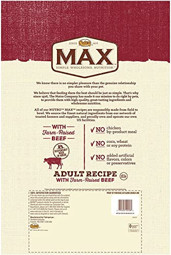 Nutro Max with Farm Raised Beef and Brown Rice Adult Recipe Dry Dog Food