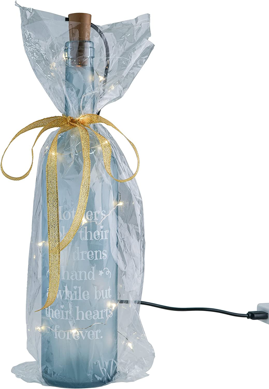 THE TWIDDLERS Lámpara Tipo Botella Luminosa - Iluminación con Luces LED - Accesorio Decorativo con Mensaje Grabado para mamá - Regalo Ideal para Navidad