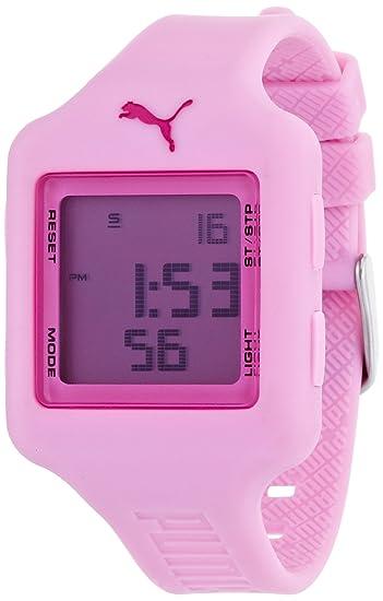 Puma Time Slide- S Pink - Reloj de cuarzo para niña, con correa de plástico, color morado: Amazon.es: Relojes