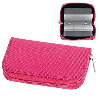 UKCOCO Portátil 22 ranuras SD SDHC MMC CF Tarjeta de memoria Micro SD Estuche para bolsa Estuche con cremallera Protector de bolsa de almacenamiento (Rosy): Amazon.es: Industria, empresas y ciencia