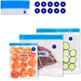 VICARKO Vacuum Sealer Zipper Bags BPA Free with Air Valve Double Layers Sous Vide Cooking Replacement for Portable…