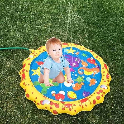 Splash Play Mat 110cm Outdoor Water Play Sprinkle Splash Pad for 3 Years Old