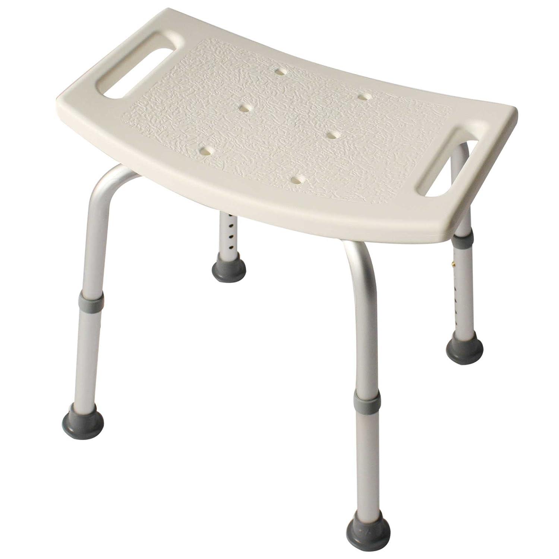 Duschhocker Duschhilfe Duschsitz Höhenverstellbar Rechteckig aus Alu und Kunststoff Amazon Drogerie & Körperpflege