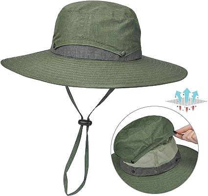 Garden Hiking Hunting Tirrinia Outdoor Sun Protection Fishing Cap with Neck Flap Wide Brim Hat for Men Women Baseball Camping Cycling Backpacking